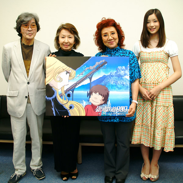 写真)左から肝付兼太さん、池田昌子さん、野沢雅子さん、足立梨花さん